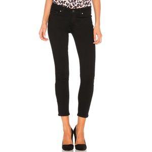 Paige Verdugo Crop Skinny Jeans Black Overdye